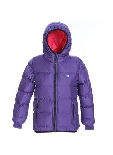 Sportive Çocuk Mor Kapüşonlu Outdoor Mont G10006-Mor Mor